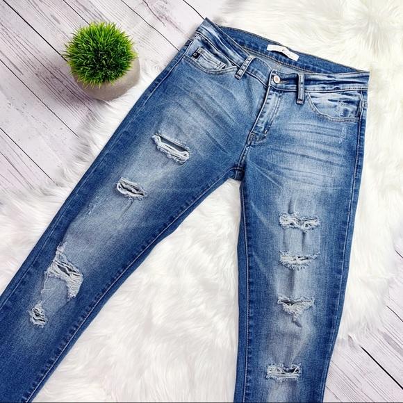 KanCan Denim - KanCan Distressed Low Rise Skinny Jeans Sz 27